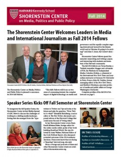 Fall 2014 newsletter cover
