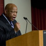 Rep. John Lewis after delivering the 2008 T.H. White Lecture.