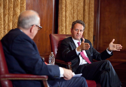 Alex Jones and Timothy Geithner