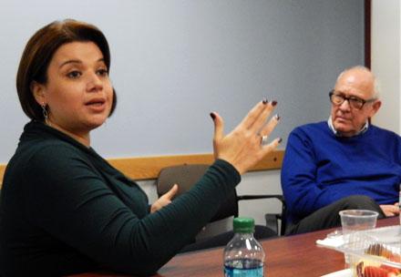 Ana Navarro and Alex S. Jones