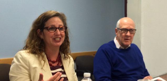 Dahlia Lithwick and Alex S. Jones (Shorenstein Center)