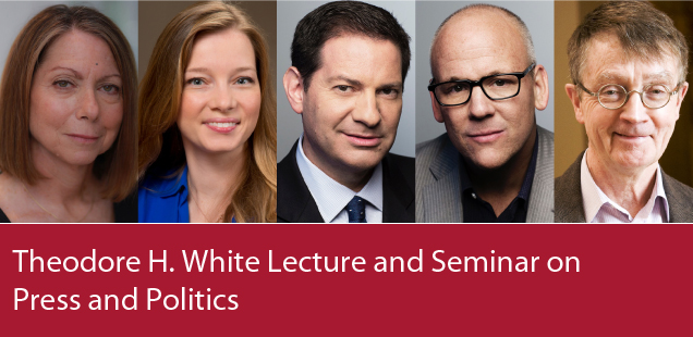 Theodore H. White Lecture and Seminar on Press and Politics, photos of panelists