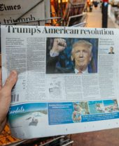 Trump on newspaper front page