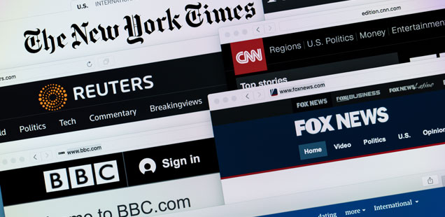 US and UK news sites