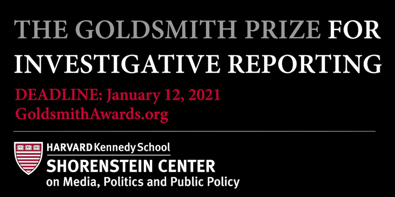2021 Goldsmith Awards deadline Jan 12